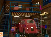 偷古董小汽车逃脱- 在一个旧机械厂里有一辆古董小汽车..
