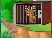 Green Forest Deer Escape