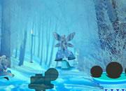 逃离下雪的森林