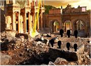 逃离古老废墟城市