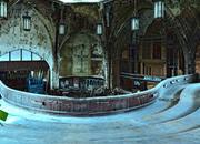 逃离废弃的长老会教堂