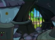 逃出山洞蘑菇房子