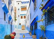 逃离摩洛哥蓝色小镇