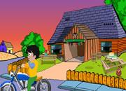可爱男孩摩托车逃脱2