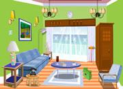 逃出清新绿色房间