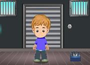 小男孩逃出工厂
