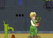 帮可爱男孩救植物