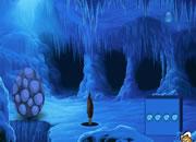 逃离危险的冰洞