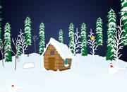圣诞节逃离雪域森林