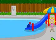 丽丽公主逃离游泳池