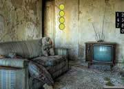 逃离废弃的简陋房子-