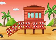 救小鸟逃离海滩房子