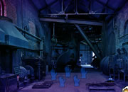 逃离废弃的工厂