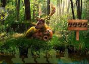 夏季鹿森林逃脱