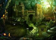 灌木林废弃城堡