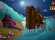 逃离废弃的海滨房子