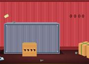 逃离装货集装箱