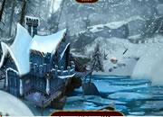 逃离冰雪湖岸房子