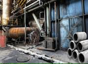 废弃铁路厂