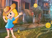 Jubilant Little Girl Escape