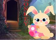 玩耍的兔子逃脫