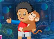男孩和猴子逃脱