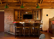 Rustic Home Bar Escape
