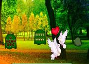 可愛鴿子森林逃離