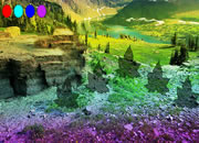 Fantasy Glacial Forest Escape