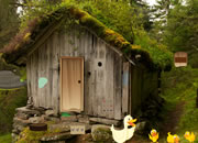Grass Roofed Hut Escape
