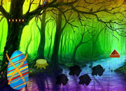 魔法复活节彩蛋森林逃脱