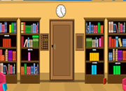 逃离学校图书馆