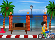 沙滩公路自行车逃离