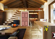 Wooden House Interior Escape