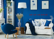 经典暗蓝色的家