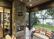 Rustic Contemporary Lake House
