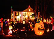 Halloween Front Yard House