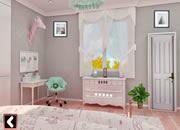 可爱女孩粉色房间逃脱-
