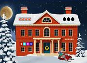 夜晚冬季房子逃脱