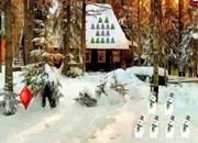 愉快的圣诞节森林逃离