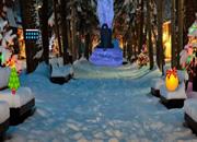 圣诞节明亮公园逃脱