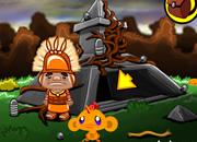 哄猴子开心 酋长和小猴子