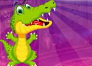 勇敢的鳄鱼逃脱