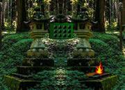 中式神廟村莊逃離