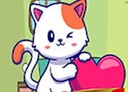 可愛的貓逃脫