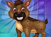 攻擊性棕色鬣狗逃脫
