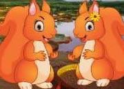 Couple Of Squirrel Escape