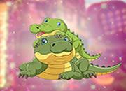 Cute Crocodile Family Escape