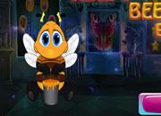 可爱老练的蜜蜂逃脱